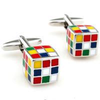 Manžetové gombíky rubikova kocka