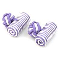 Manžetové gombíky elastické fialovobielom