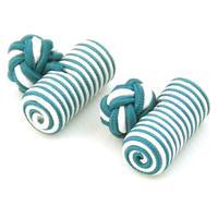 Manžetové gombíky elastické Zelenobílá