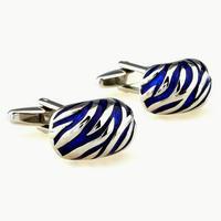 Manžetové gombíky modrý ornament