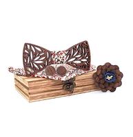 Drevené manžetové gombíky s motýlikom Rožanice