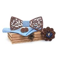 Drevené manžetové gombíky s motýlikom Pereplut