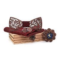 Drevené manžetové gombíky s motýlikom Pohvizd