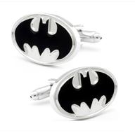 Manžetové gombíky Batman (Betman) bílá