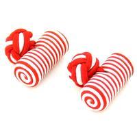 Manžetové gombíky elastické červeno bielo