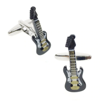 Manžetové gombíky elektrická gitara čierna