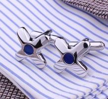 Manžetové gombíky hviezdica s modrým okom