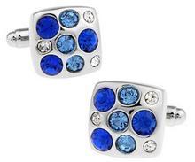 Manžetové gombíky s modrými kamenami
