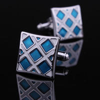 Manžetové gombíky modro-strieborné
