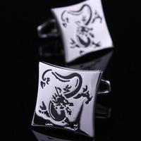 Manžetové gombíky drak silver