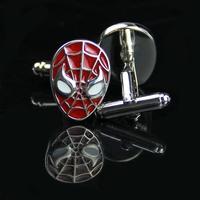 Manžetové gombíky Spiderman červený
