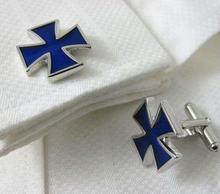 Manžetové gombíky modrý kríž