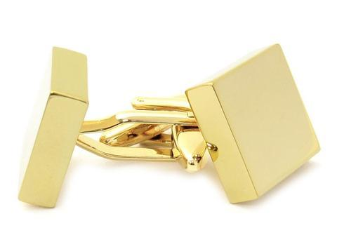 Manžetové knoflíčky ke gravírování čtverec gold