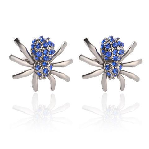 Manžetové gombíky modrý pavúčik - 1