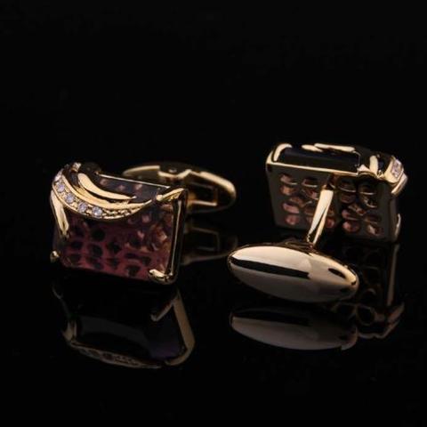 Manžetové gombíky Elefant - kráľovská fialová - 1