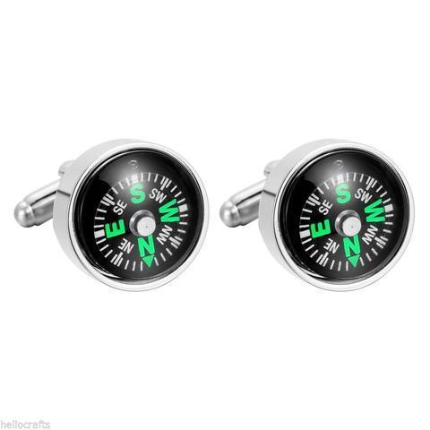 Manžetové gombíky pohyblivý kompas - 1