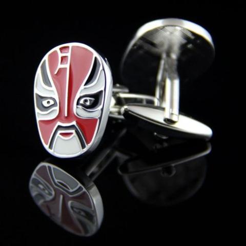 Manžetové gombíky maska čínska opera