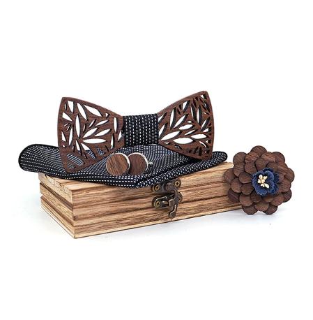 Drevené manžetové gombíky s motýlikom Svarog