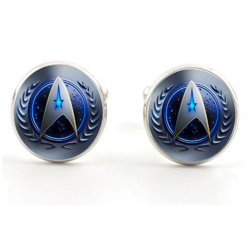 Manžetové gombíky Star Trek modré