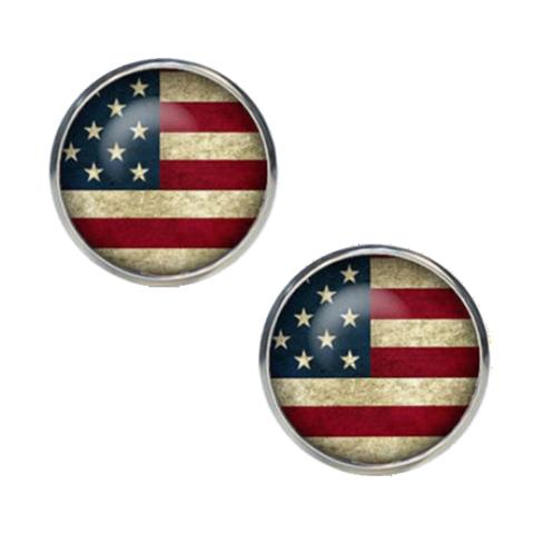 Manžetové gombíky farebné USA - 1