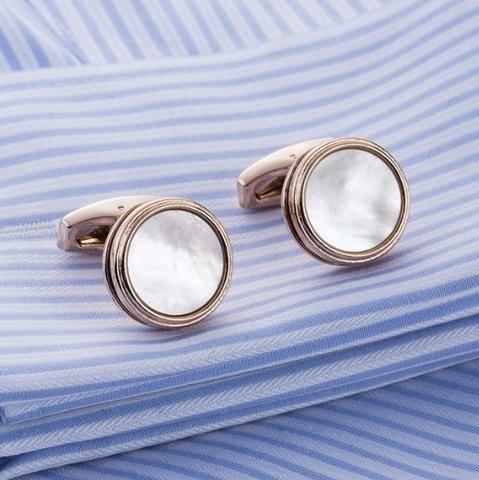 Manžetové gombíky perleť natur - 1