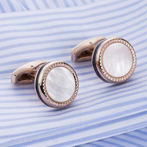Manžetové gombíky perleť black - 1