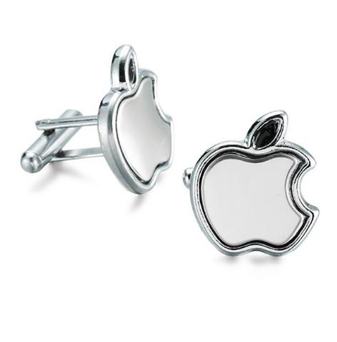 Manžetové gombíky apple silver - 1