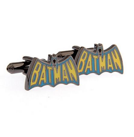 Manžetové gombíky Batman farebné logo - 1