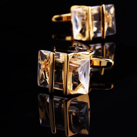Manžetové gombíky Gemstone zlato-bielej - 1