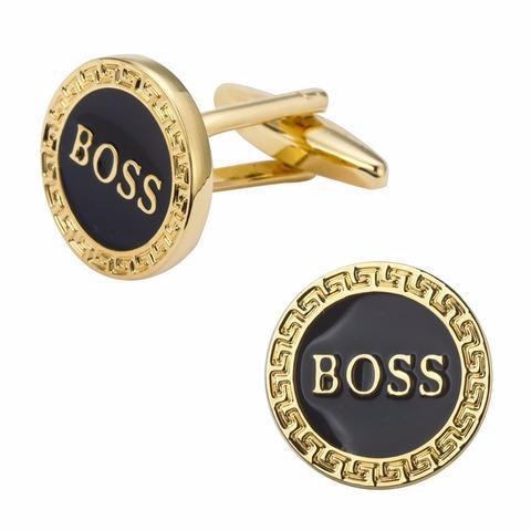 Manžetové gombíky BOSS gold - 1