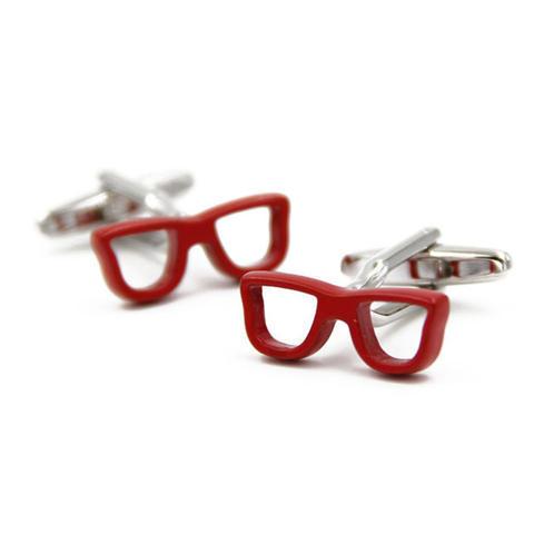 Manžetové gombíky červené okuliare - 1