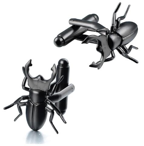 Manžetové gombíky chrobák Roháč obyčajný, Lucanus cervus, entomológ