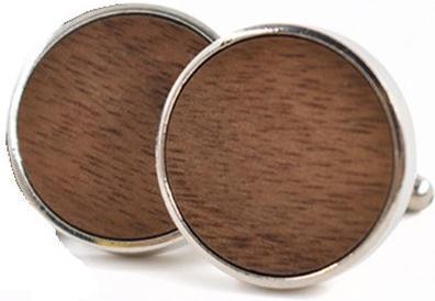 Manžetové gombíky drevené koliesko