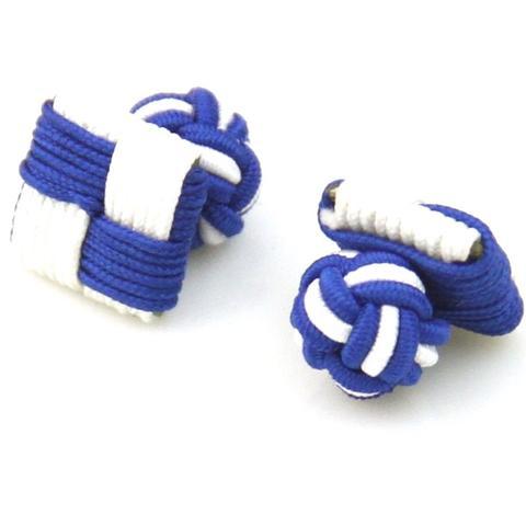Manžetové gombíky elastické modrobiele štvorec