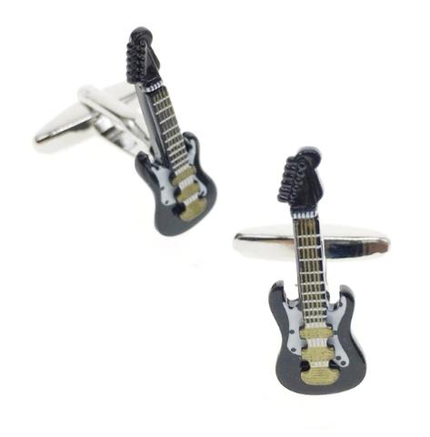 Manžetové gombíky elektrická gitara čierna - 1