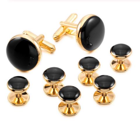 Manžetové gombíky zlatá frakové