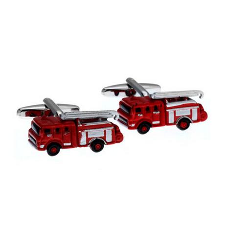 Manžetové gombíky hasičský voz červený
