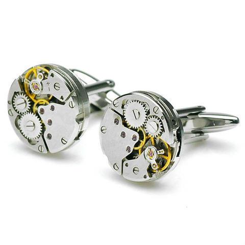 Manžetové gombíky hodinový strojček - 1