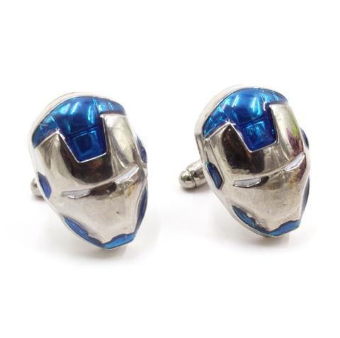 Manžetové gombíky Iron Man modre - 1