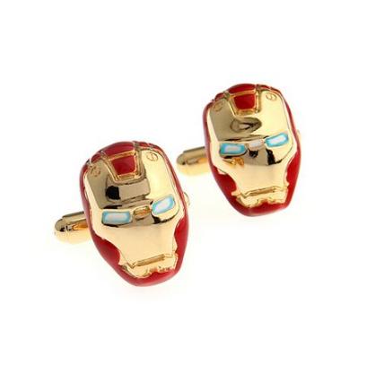 Manžetové gombíky Iron Man gold - 1