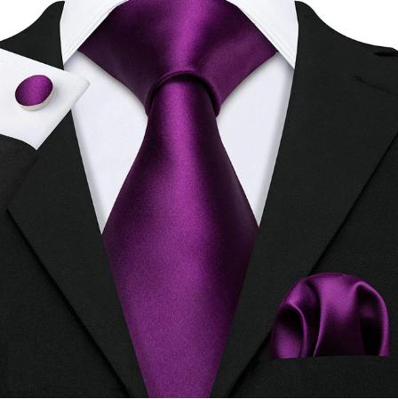 Manžetové gombíky s kravatou fialová - Aigle