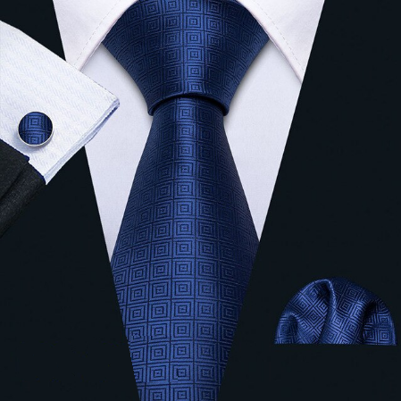Manžetové gombíky s kravatou modrá - Aglaia