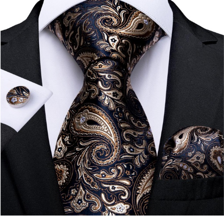 Manžetové gombíky s kravatou Hypnos