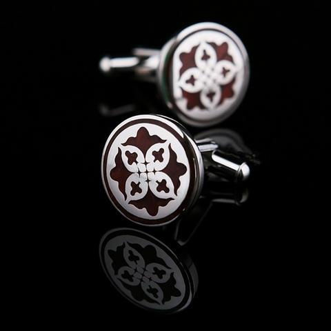 Manžetové gombíky kruhový ornament - 1