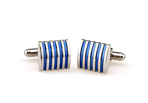 Manžetové gombíky modro-ocelové