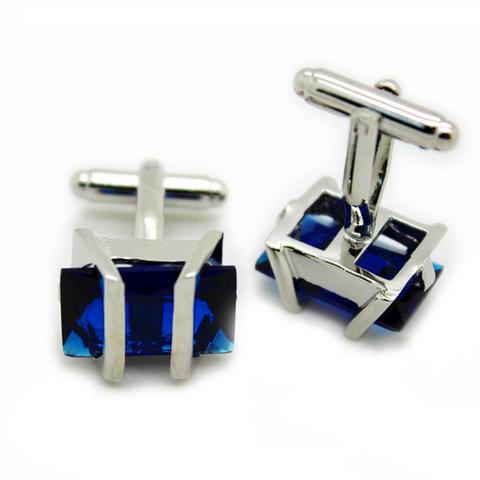 Manžetové gombíky Gemstone modrý - 1