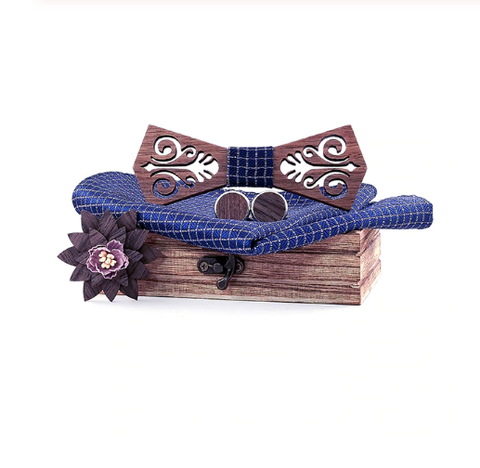 Drevené manžetové gombíky s motýlikom Helsinky