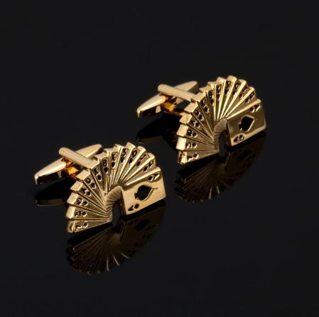 Manžetové gombíky zlatý paraván
