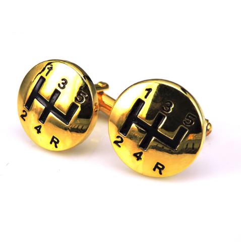Manžetové gombíky radiaca páka gold - 1