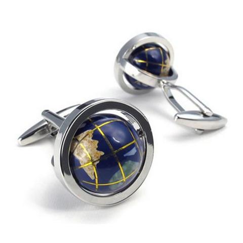Manžetové gombíky rotujúce globus - 1